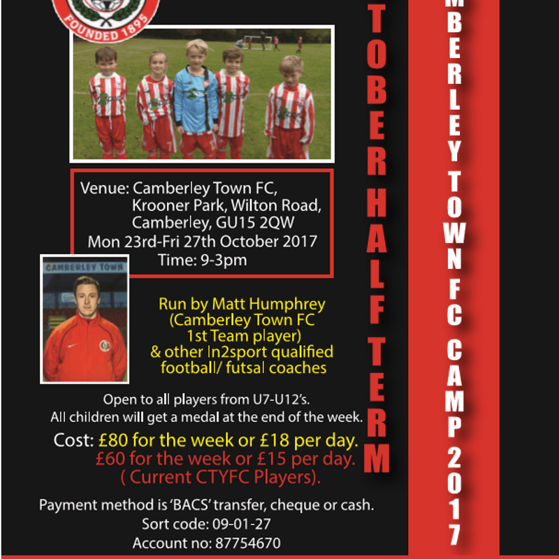 October Half Term Camp