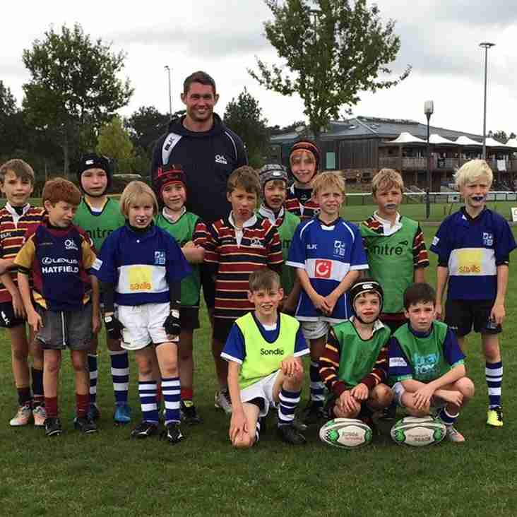 Unders 10s joint training with OAs