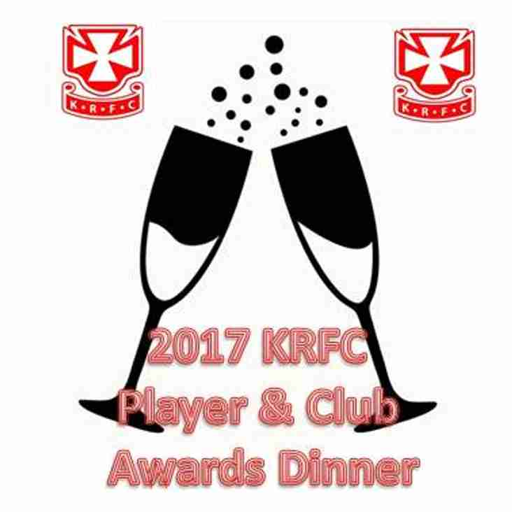 Player and Club Awards Dinner Sat 27th @ 7pm
