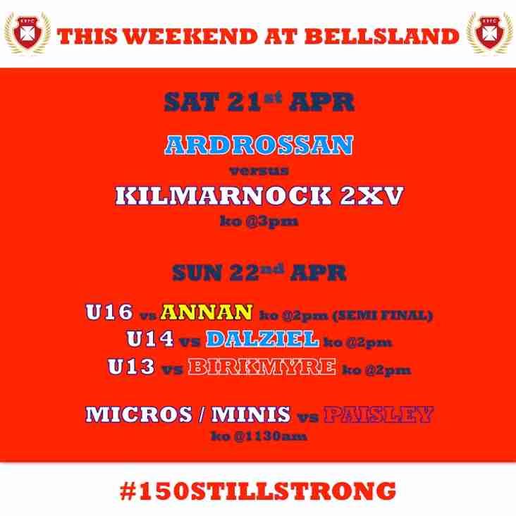 This weekend at Bellsland
