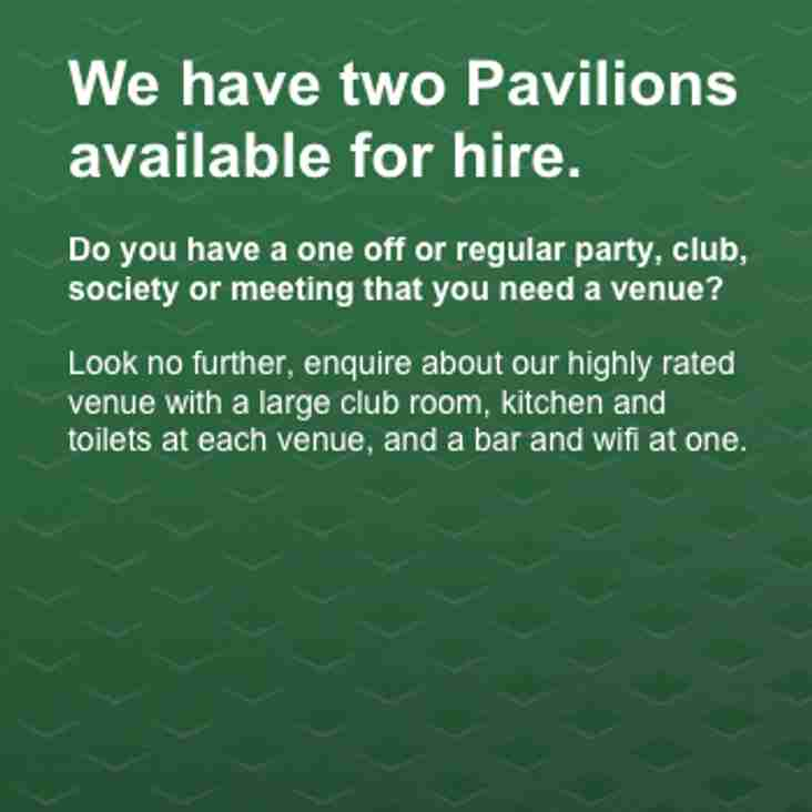 Our pavilions are available for hire