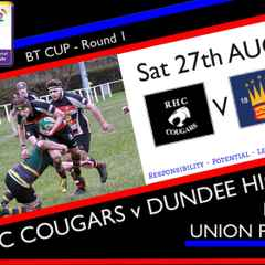 Cougars Draw Dundee High at Home in BT Cup