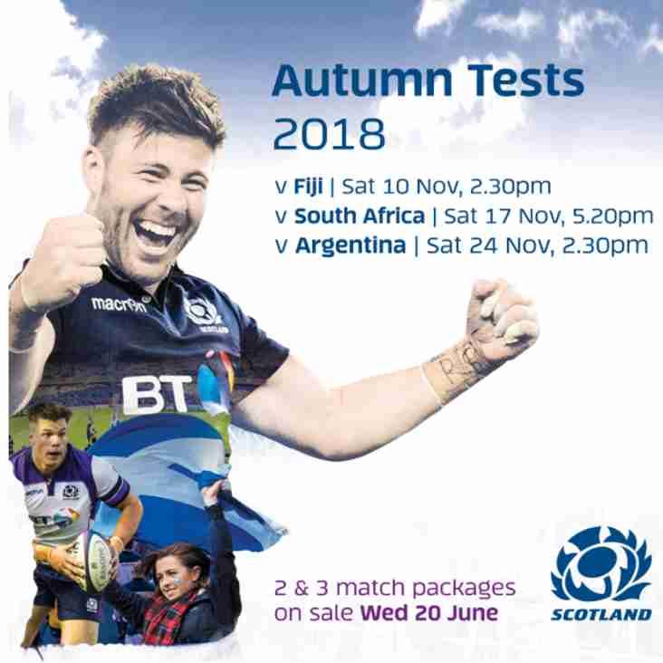 Autumn Test Ticket Application Open
