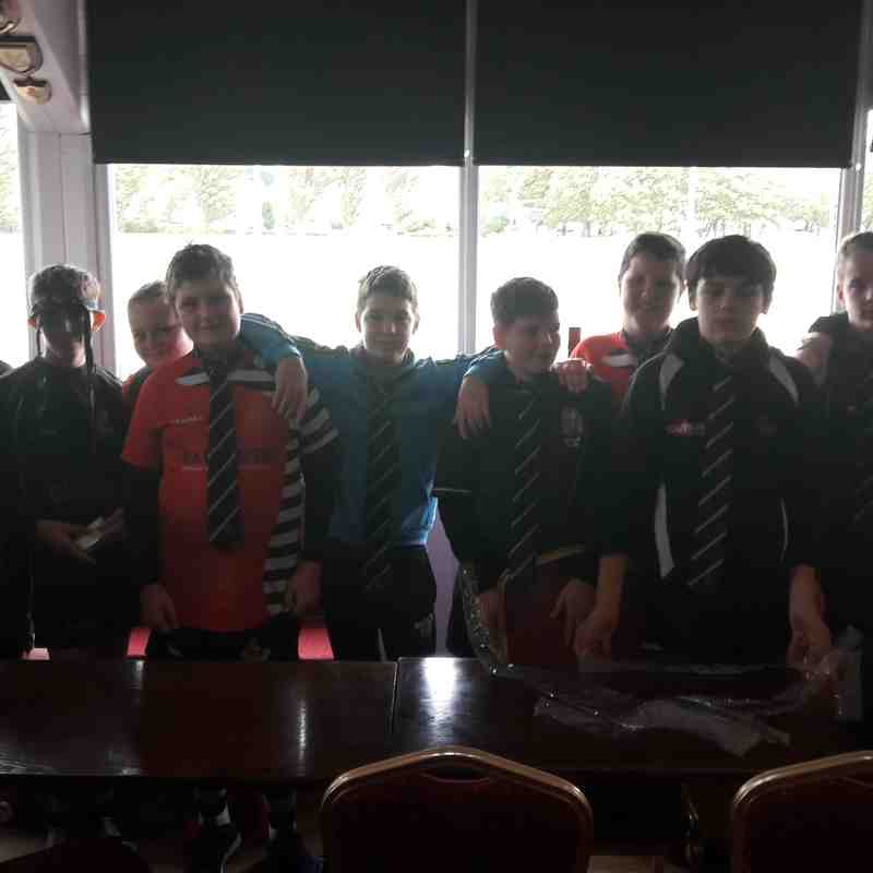 Under 14s club ties presentation 2017