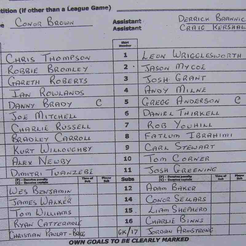 Clitheroe 3-1 Tadcaster Albion 03-12-16
