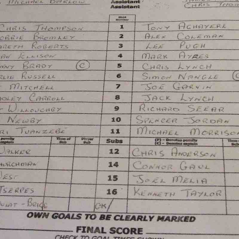 Clitheroe 2-2 Colne 26-12-16