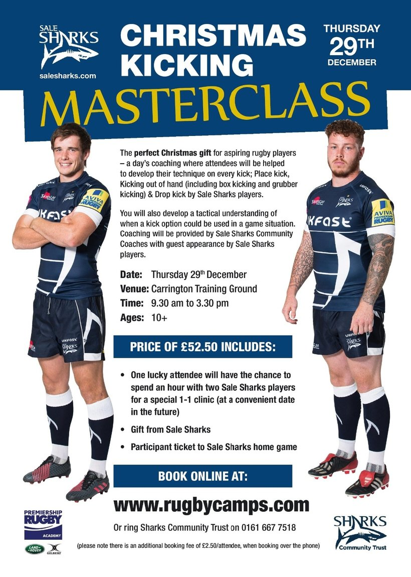 SALE SHARKS CHRISTMAS KICKING MASTERCLASS - News - Southport Rugby ...