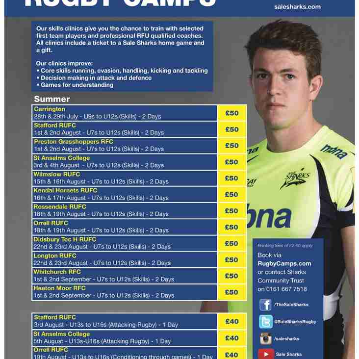 SALE SHARKS SUMMER RUGBY CAMPS