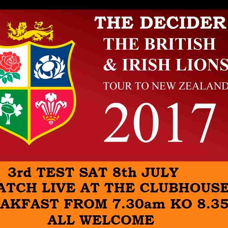 LIONS... WATCH THE DECIDER