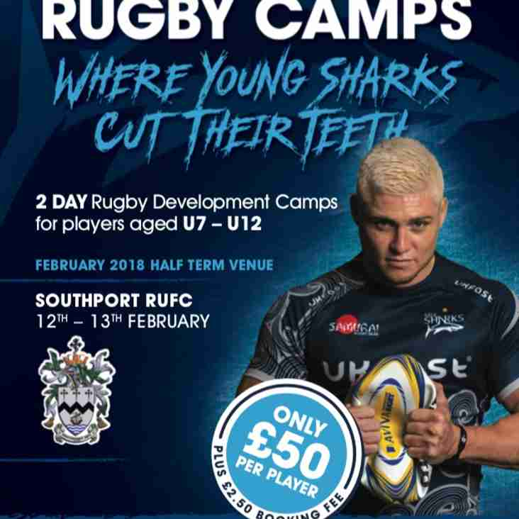 SALE SHARKS FEBRUARY RUGBY CAMP