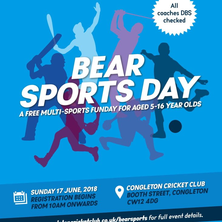 Bear Town Sports Day - Sunday 17th June 2018 - 10am till 3pm<