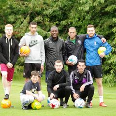 town players playing  footgolf at willow valley clifton