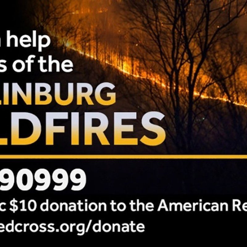 Donation to Gatlinburg Wildfire Victims