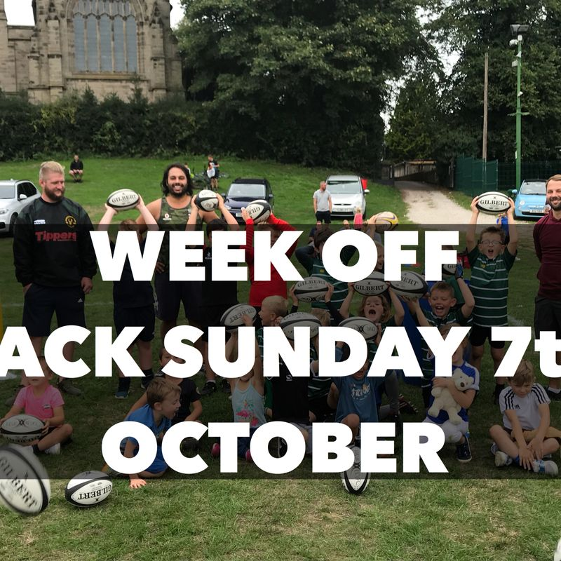 Mini Rugby Week Off - we're back on 7th October