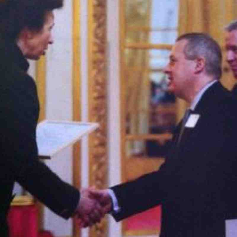 Mike Ingram receiving a Butler Trust Award from HRH Princess Anne at Buckingham Palace 13-03-2010