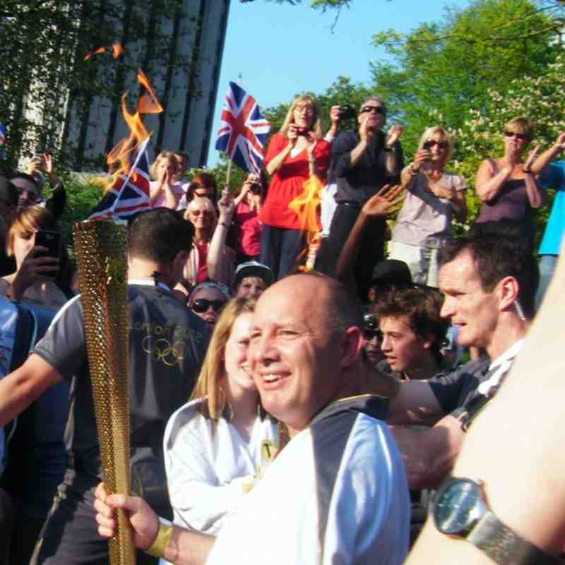 Sean and His Olympic Torch