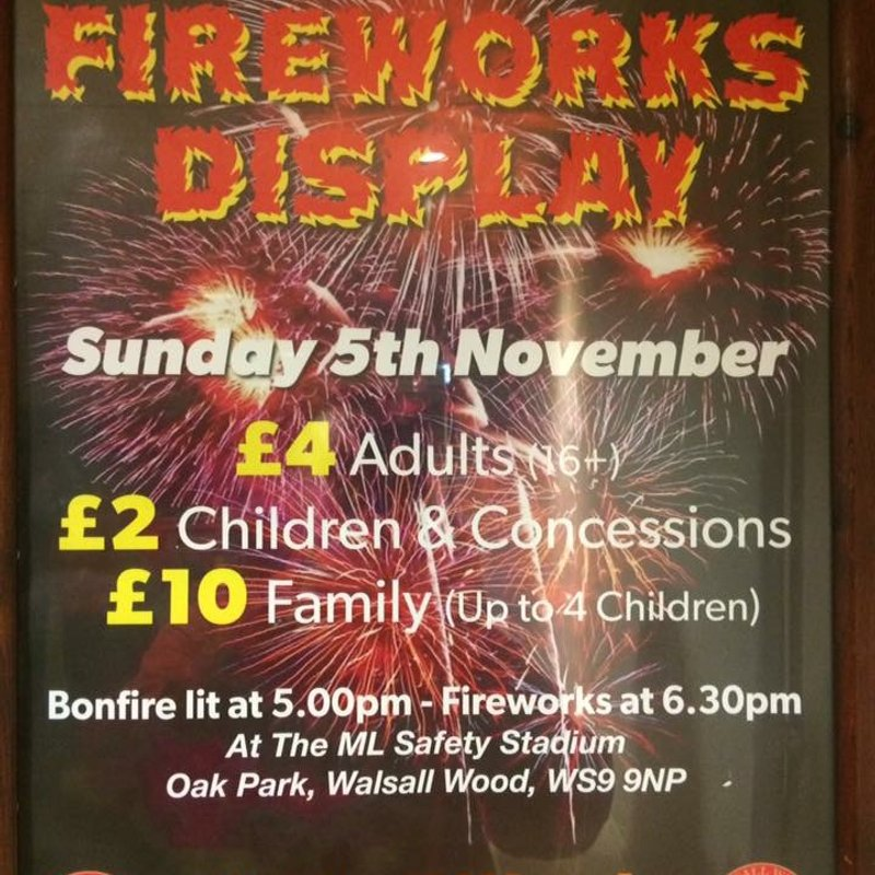 BONFIRE AND FIREWORKS AT THE WOOD