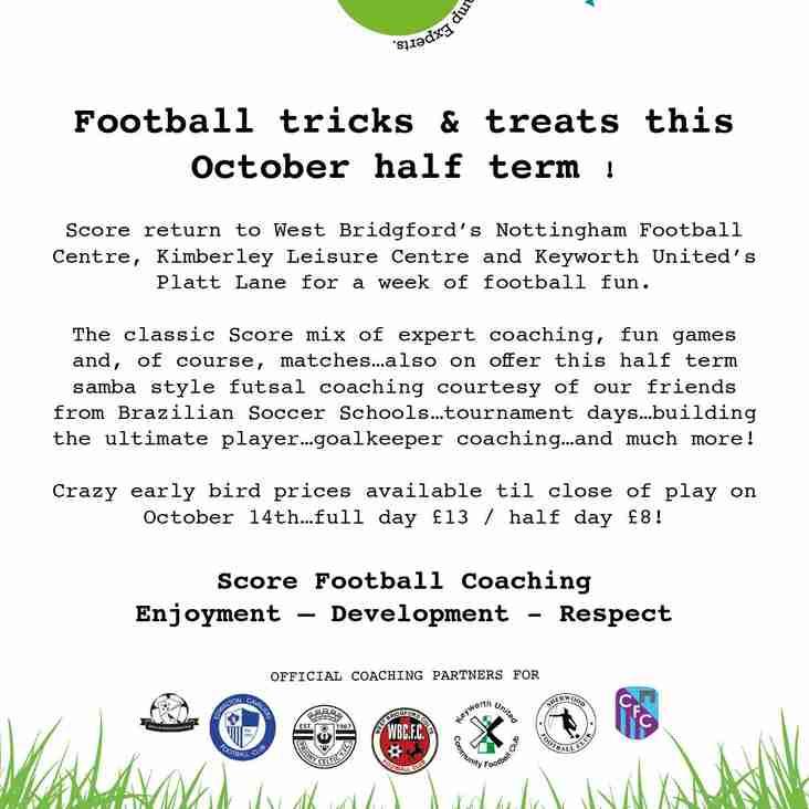 Football tricks & treats this October Half Term!