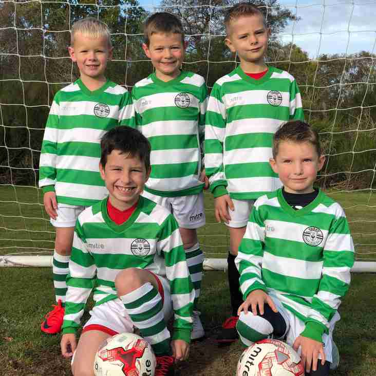 Priory Celtic U7 Hoops play their first ever game!