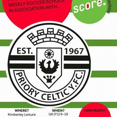 Priory Celtic Social Media Accounts