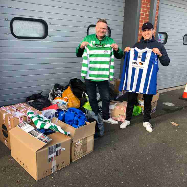 Priory Celtic collect unwanted kit for Kitaid!