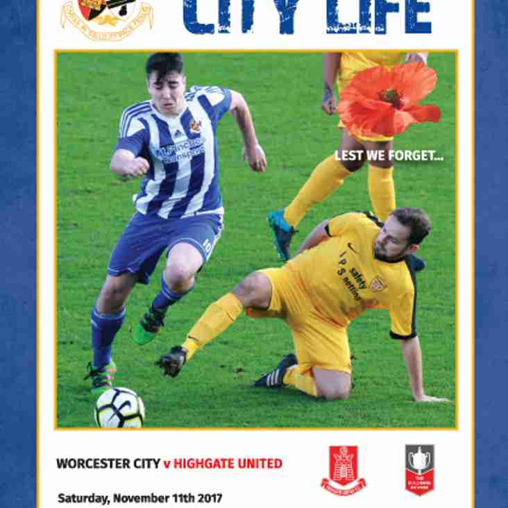 MATCHDAY PROGRAMME: Get your copy on Saturday