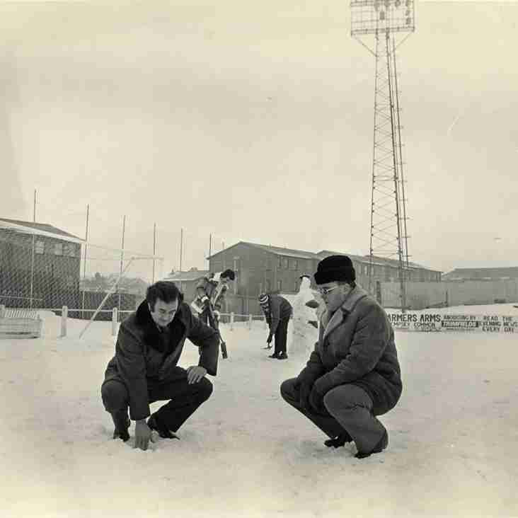 PICTURES FROM THE PAST: Snowy pitch inspection, 1979