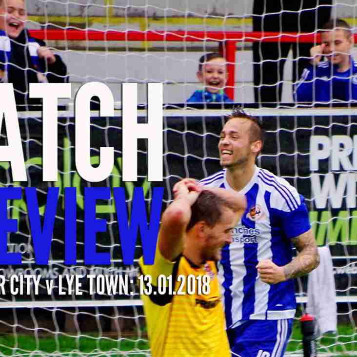 PREVIEW: City host Lye Town on Saturday in our first game of 2018