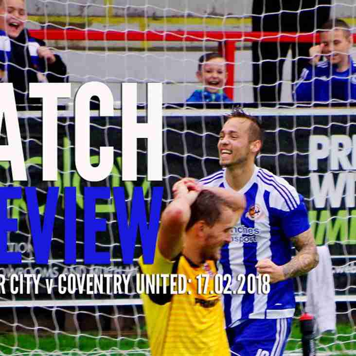 PREVIEW: Spring in our step as we host Coventry United