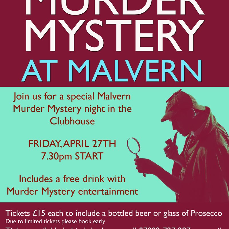 MURDER MYSTERY: A night full of entertainment, intrigue, suspicion, and murder coming up