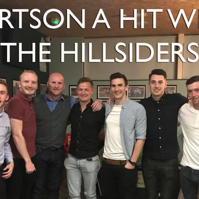 SPORTING DINNER: Hartson a hit with The Hillsiders