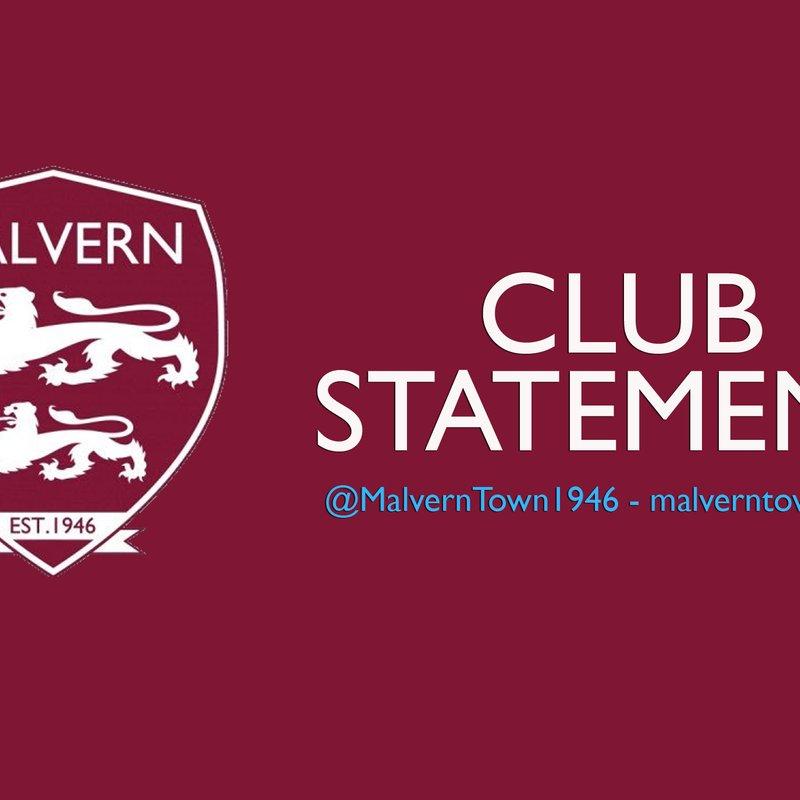 CLUB STATEMENT: First-team management step down