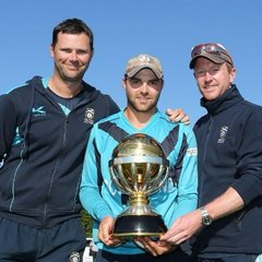 The ICC World Cup Qualifier Trophy at the AGM