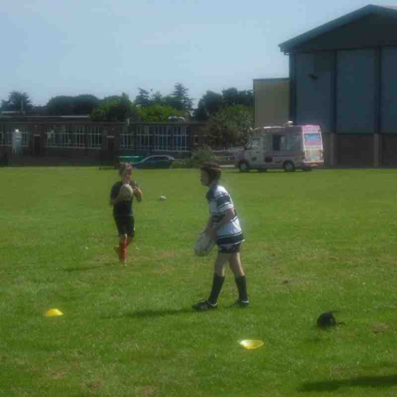 Under 10s training session with the Hull FC Foundation team