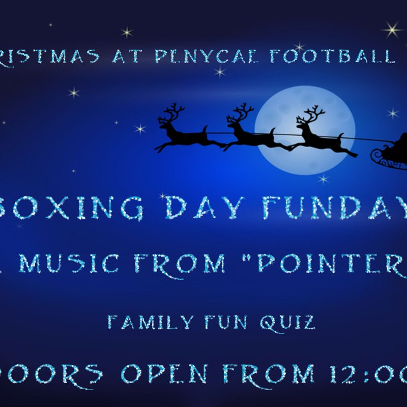 BOXING DAY AT PENYCAE FOOTBALL CLUB