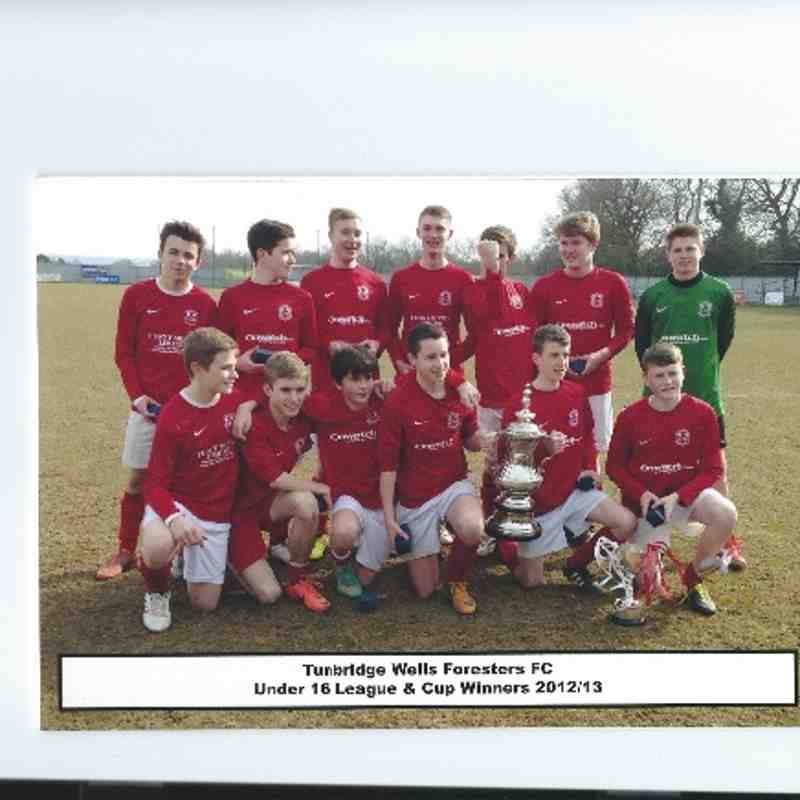 TW Foresters U16 Cup Winners