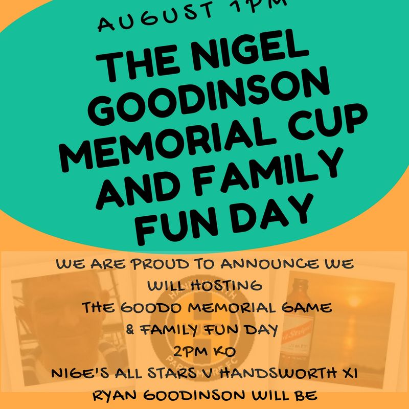 Nigel Goodinson Memorial Cup and Family Fun Day