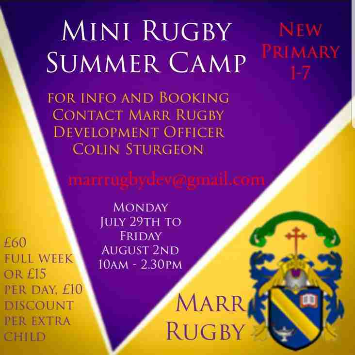 Marr Rugby Summer Camp