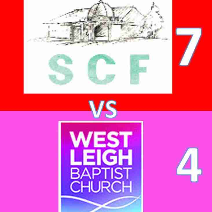 SCF go top following high scoring game with West Leigh