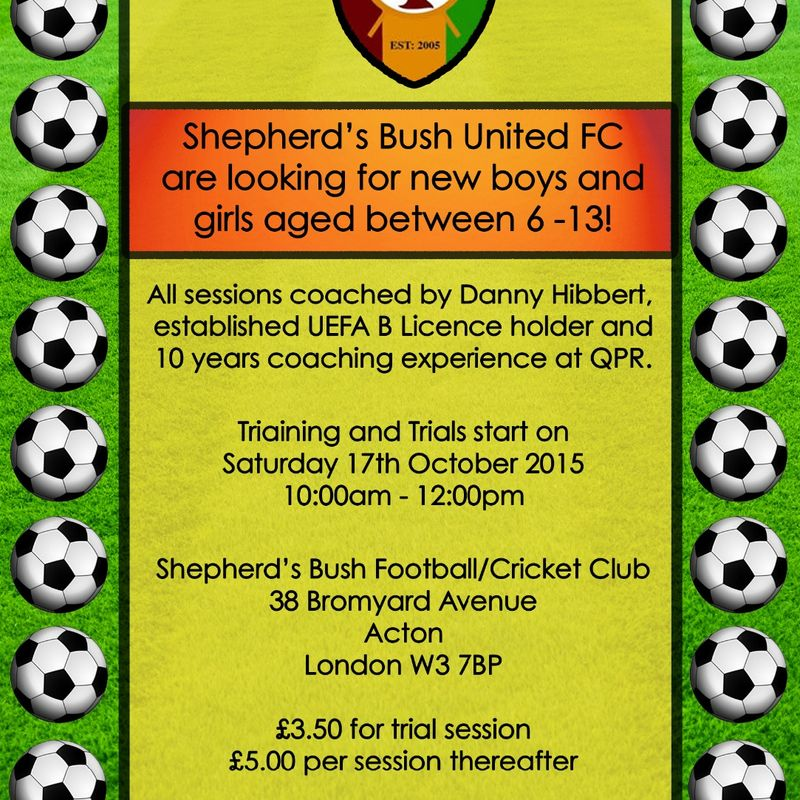 Training is back 17th October