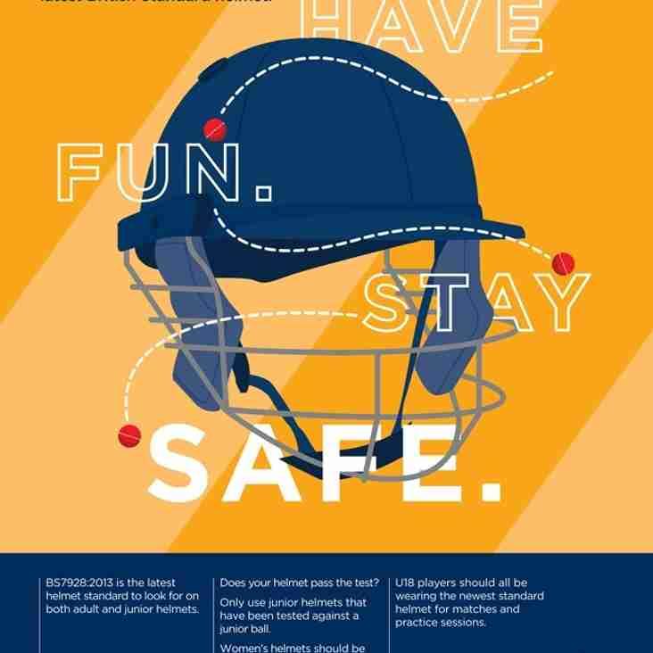 Cricket Helmets - Guidance from ECB