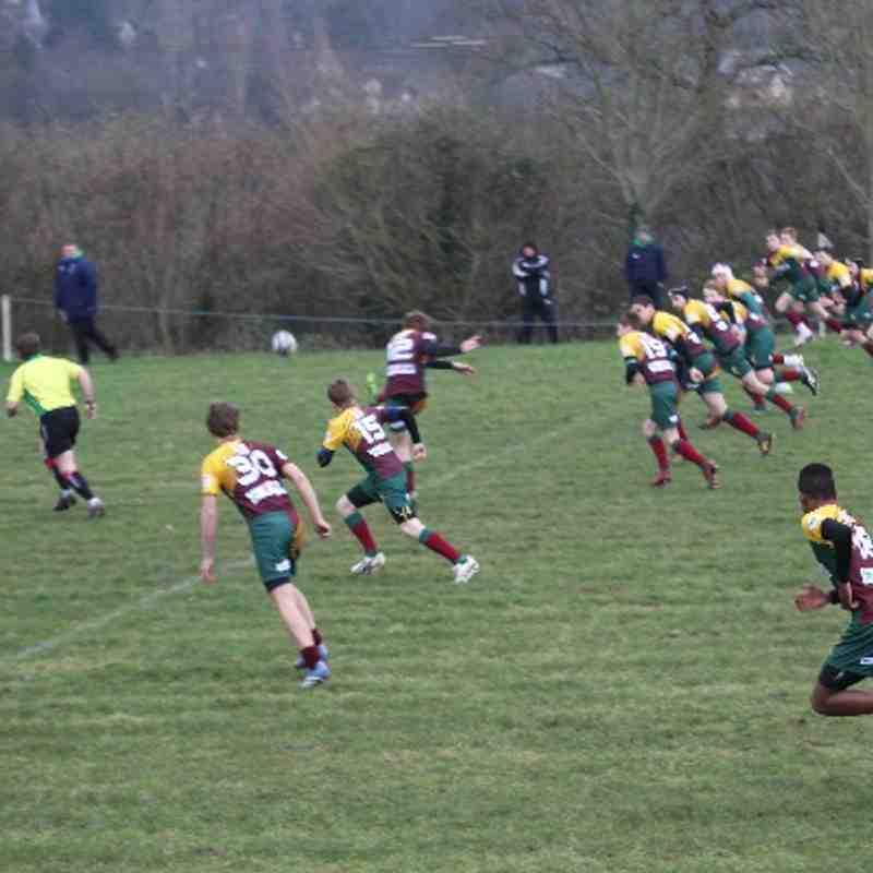 OBs U15's away to Winscombe 12/1/14