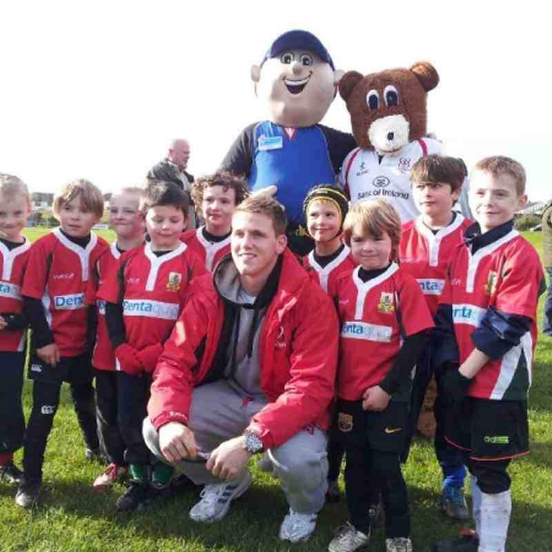 P3s attend Ulster Rugby Festival at Belfast High School FP Oct 2012