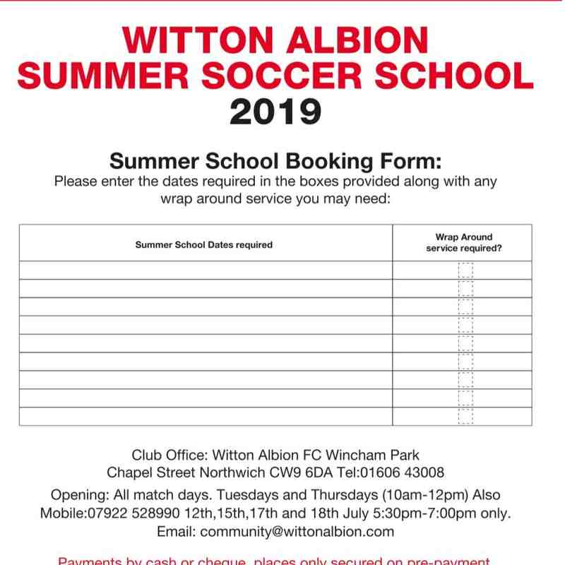 Summer Soccer Schools