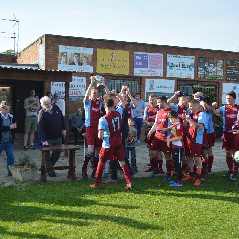 Thirsk Falcons win the Harrogate league Intermediate Cup 2017