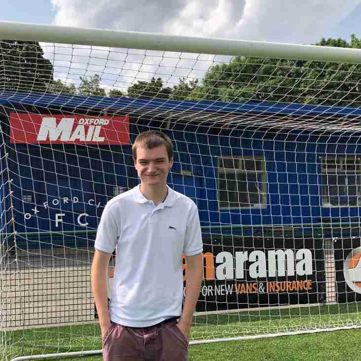Luke Weir joins Oxford City as a media intern
