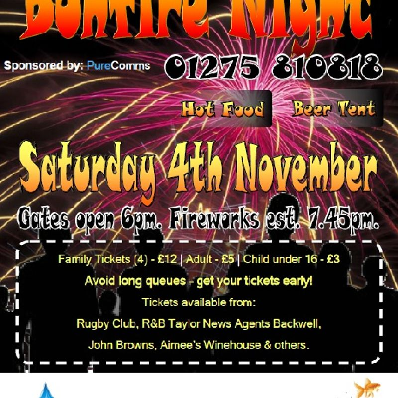N&B RFC Bonfire Night 2017 Sponsored by PureComms