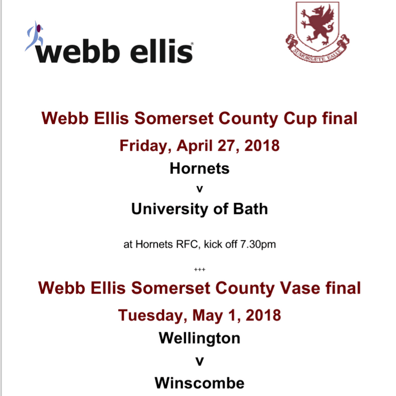 Web Ellis Somerset County Cup & Vase  Finals