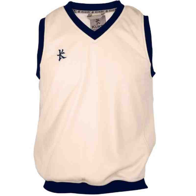 Cricket Fleece Sleeveless Navy Trim