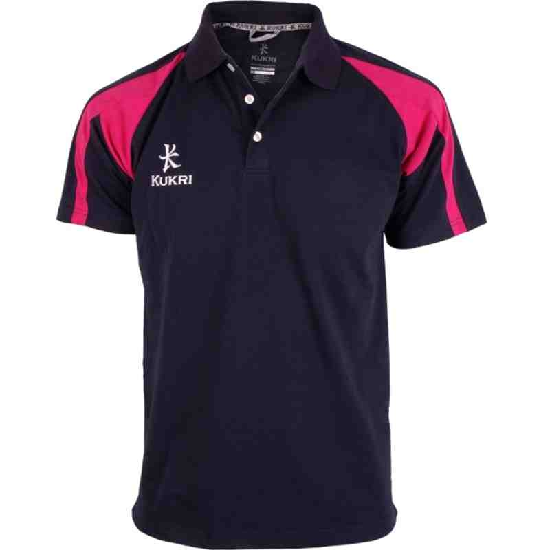 Premium Polo Navy/Hot Pink